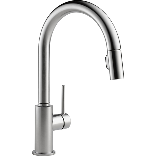delta-faucet-9159-ar-dst-trinsic-single-handle-pull-down-kitchen-faucet-review